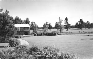 Houghton Lake Michigan~Pineview Golf Course~Club House~Roscommon County~40s RPPC