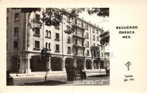 F61/ Foreign RPPC Postcard Mexico 1949 Oaxaca Recuerdo Hotel Marquez Del Valle