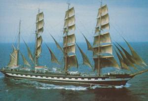 Kruzenshtern Germany Boat Cutty Sark Tall Ships Race Postcard