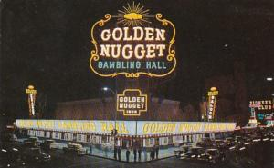 Nevada Las Vegas Golden Nugget Gambling Hall Saloon and Restaurant