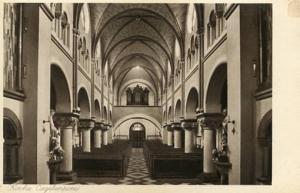 Holland - Valkenburg, Missionskoneg St. Karl Vanderanficht mit Hauptportal, C...