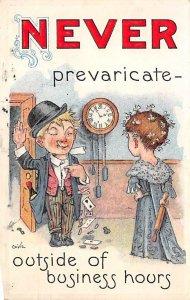 Never Prevaricate-Outside of Business Hours 1911