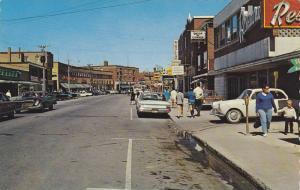 Vue de l'ouest sur la rue St-Germain , RIMOUSKI , Quebec , Canada , 60-80s