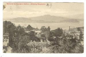 Entrance To Auckland Harbour (Showing Rangitoto), New Zealand, PU-1910