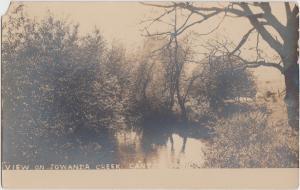 Pennsylvania Pa Real Photo RPPC Postcard c1910 CANTON Towanda Creek Scene