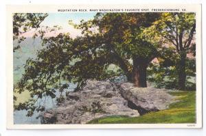 Fredericksburg Virginia Meditation Rock VA Postcard
