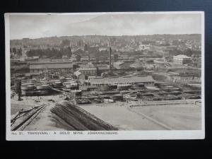 South Africa: TRANSVAAL - A Gold Mine, Johannesburg - Old Postcard