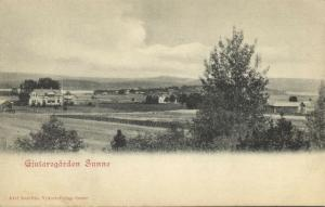 sweden, SUNNE, Värmland County, Gjutaregården Panorama (1899)