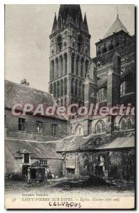 Postcard Old Saint Pierre sur Dives Church Steeple Cote Sud