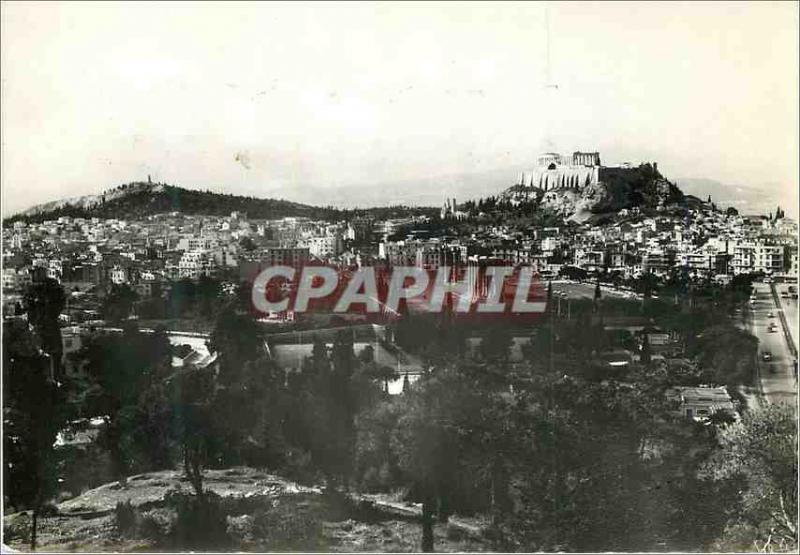 Postcard Modern Athens General and Acropolis View
