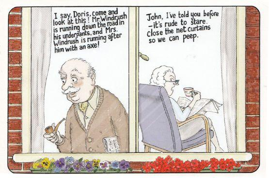 Elderly Peeping Tom Method Of Spying Culture Tourist Comic Humour Postcard