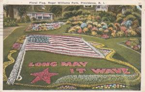 Roger Williams Park Floral Flag Garden Providence RI Rhode Island - pm 1934 - WB