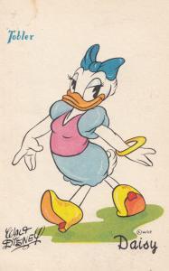 Walt Disney Rare 1950s Tolber Daisy Of Donald Duck Antique French Postcard
