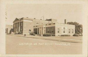 RP: HIAWATHA , Kansas , 1948 ; Auditorium & Post Office