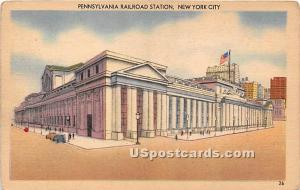 Pennsylvania Railroad Station New York City NY Writing on back