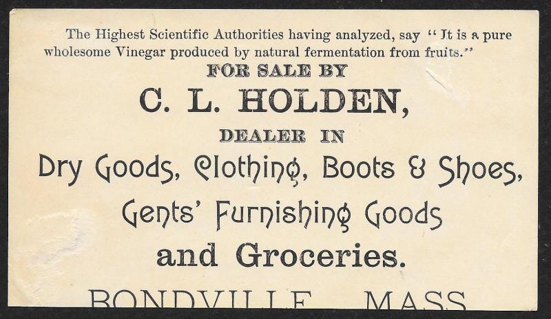 VICTORIAN TRADE CARD Alden Fruit Vinegar Black Man on Ladder Fruit in Hat & Dogs