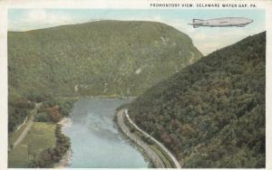 DELAWARE WATER GAP, Pennsylvania, PU-1932; Promontory View