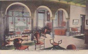 New York Dansville Lobby Jackson Health Resort 1914