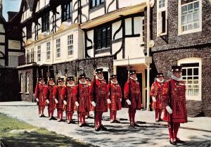 England Tower of London Yeomen Warders on Ceremonial Church Parade 1959