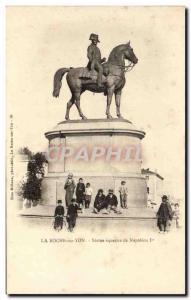Old Postcard La Roche Sur Yon Equestrian Statue of Napoleon 1st Child