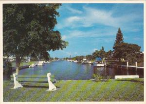 Canal Scene Lighthouse Point Florida