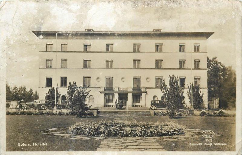 Sweden Bofors Hotel Real Photo Postcard 1940s