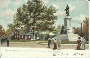 Providence, R.I., Roger Williams House and Statue, Roger Williams Park == TUCK