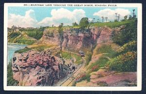 Electric Trolley Line Niagara Falls NY unused c1920's