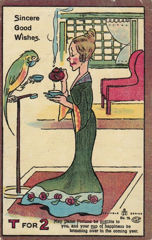 Parrot & Woman , T for 2 , 1908