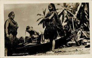 indonesia, MENTAWAI MENTAWEI, Native Girls on the Beach, Boat (1930s) RPPC
