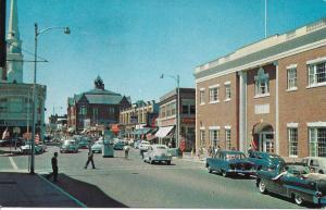 Beverly Massachusetts 1958 Cadillac Convertible-top down-guys-cruising downtown