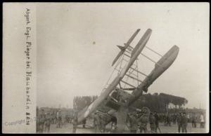 Germany WWI Crash Downed Airplane Hauburdin June 1916  RPPC 65299