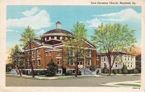Kentucky Ky Postcard c1920 MAYFIELD First Christian Church Building