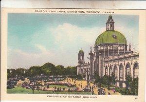 P1887 old postcard canadian nat,l exhibition toronto ontario building canada