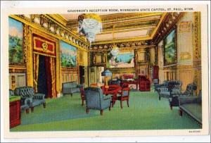 MN - St. Paul. Governor's Reception Room, State Capitol