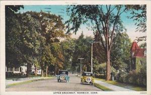 Connecticut Norwich Upper Broadway 1929