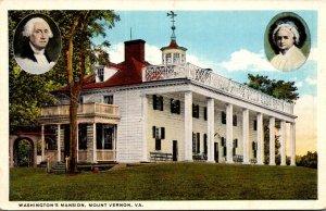 Virginia Mount Vernon Washington's Mansion Curteich
