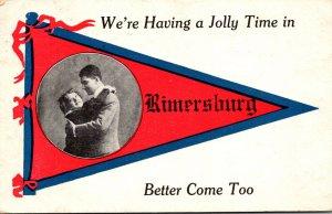 Pennsylvania Rimersburg We're having A Jolly Time 1913 Pennant Series