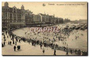 Old Postcard Ostend Vue Generale de la Digue to the royal cottage
