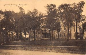 Aurora Illinois~Jennings Seminary Building~c1910 Postcard