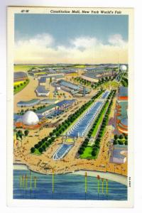 Constitution Mall, New York World's Fair Officially Approved Colortone PPC