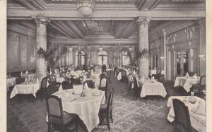 Restaurant Dining Room , NEW YORK CITY, 1909 ; Hotel Woodstock