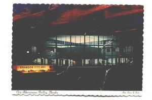 Night, Civic Administration Building, Brandon Manitoba, Photo Terence J Fowler