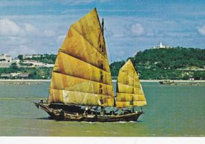 Chinese Fishing Junk , Hong Kong , China , 50-70s