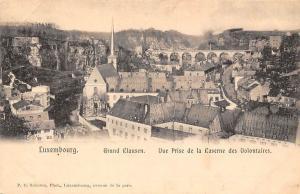 Luxembourg, Grund Clausen, Vue Prise de la Caserne des Volontaires