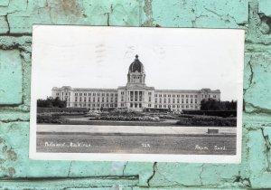 Parliament Buildings RPPC Postcard, Regina, Saskatchewan, Canada, Postmarked
