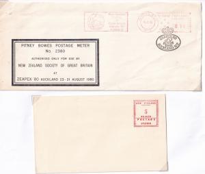 Pitney Bowes Postage Meter 2380 FDC & Specimen Envelope Postmark s