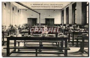 Old Postcard Angers upper primary school boys The refectory