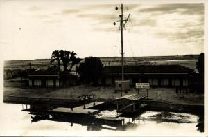 egypt, GARE DE BALLAH, Panorama with Dock (1950s) RPPC