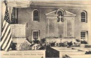 Interior, Pohick Church, Fairfax County, Virginia, 1900-1910s